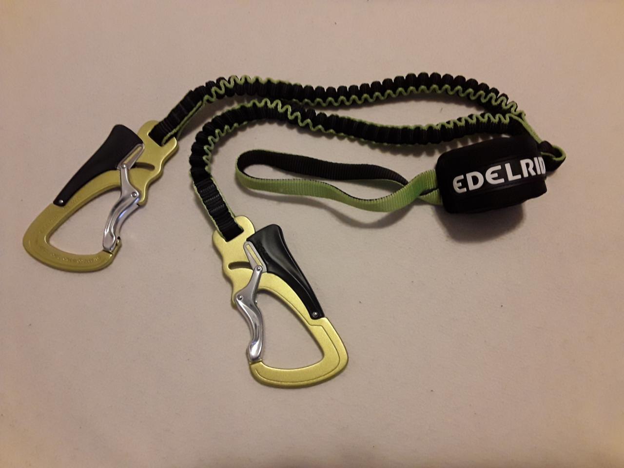 Klettersteigset One Touch : Selbstsicherungsgerät edelrid cable lite 2.3 one touch kibuba