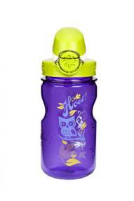 Bottiglia per bambini Nalgene OnTheFly Purple Owl 0,35L