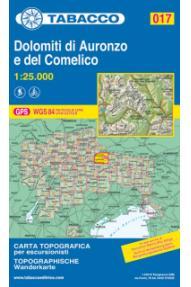 Zemljovid 017  Dolomiti di Auronzo e del Comelico - Tabacco