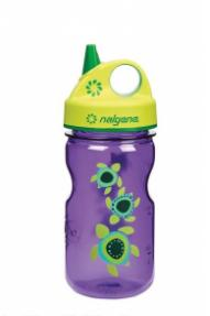 Kinder Flasche Nalgene Grip'n'Gulp Violet Turtles