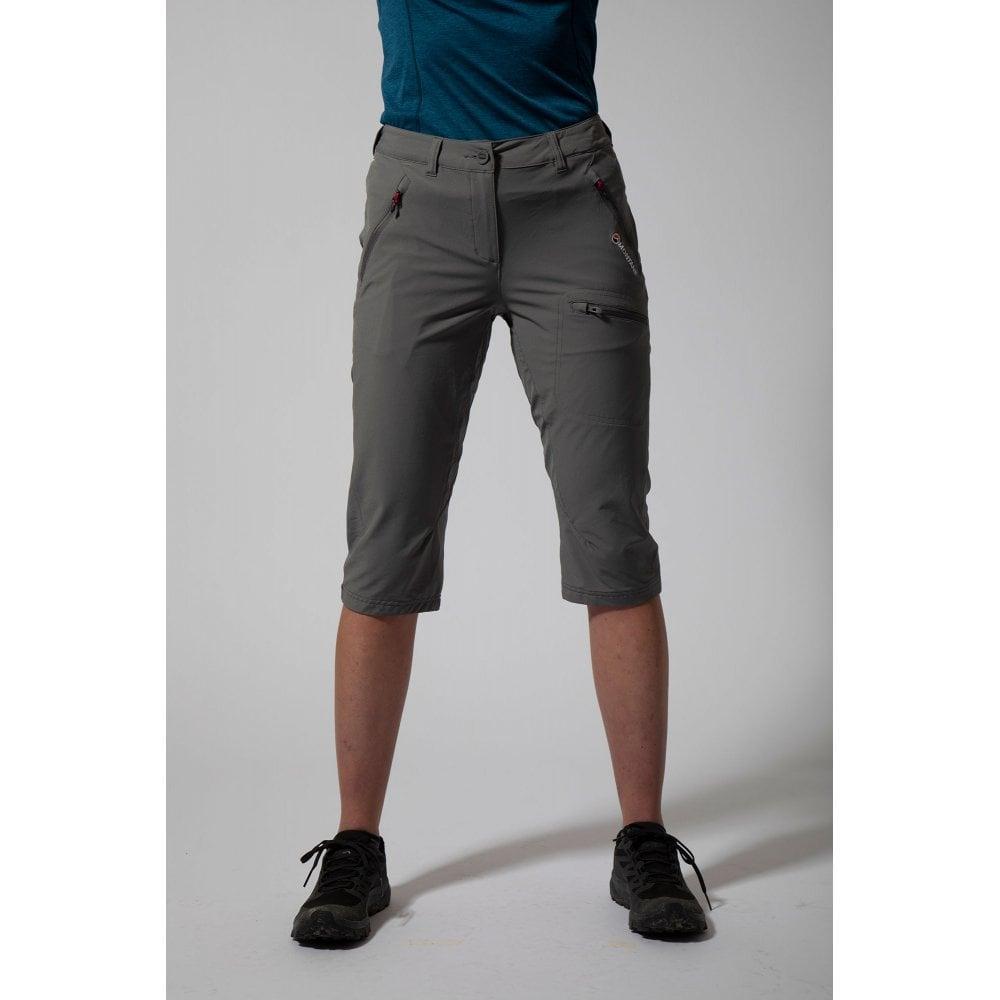 MONTANE Femme Dyno Stretch Capri Pantalon UK8//US6//EUR34 NARVAL Bleu