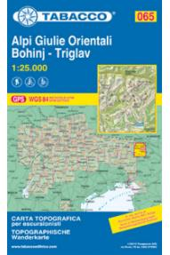 Map 065 Alpi Giulie Orientali Julijske Alpe-Bohinj-Triglav - Tabacco