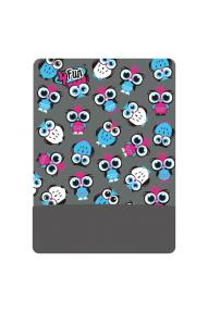 4fun Scarf polartec Owl Grey Kid