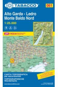 Landkarte 061 Alto Garda-Ledro Monte Baldo Nord-Tabacco