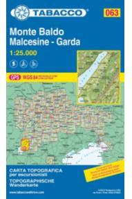 Zemljevid 063 Monte Baldo, Malcesine, Garda-Tabacco