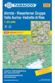Zemljevid 035 Ahrntal - Rieaserferner Gruppe Valle Aurina