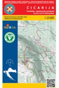 Landkarte Ćićarija 1:25.000