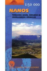 Nanos - Trnovski gozd, Idrijsko in Cerkljansko hribovje 1 : 50.000