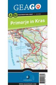 Sporttreiben Landkarte GeaGo Küstenland und Karstgebiet 1:50 000