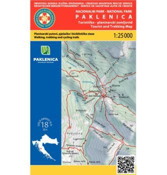 Zemljevid HGSS NP Paklenica 18