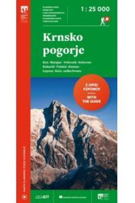 Zemljovid Krnsko pogorje 1:25.000 Planinska zveza Slovenije