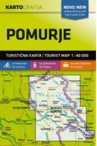 Mappa e guida Pomurje - 1:40.000