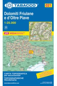 Map Tabacco 021 Dolomiti Friulane e D'oltre Piave