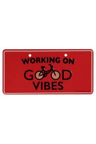Fahrradtafel Working on good Vibes
