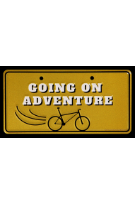 Fahrradtafel Going on an adventure