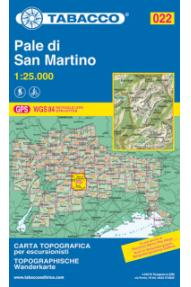 Karte 022 Pale di San Martino- Tabacco