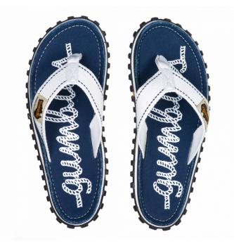 Women Flip Flops Gumbies Navy Rope