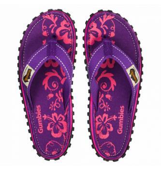 Ženske japanke Gumbies Purple Hibiscus