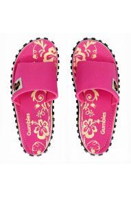 Women Flip Flops Slide Pink Hibiscus