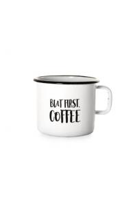 Emajliran lonček (0.37L) Cuckoo Cups But First Coffe