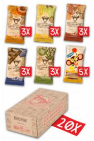 Chimpanzee energijska ploščica družinsko pakiranje- paket šestih okusov