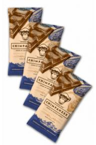 Package Chimpanzee Chocolate date Natural Energy Bar 4 for 3