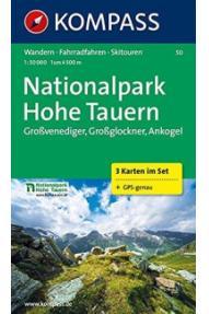 Zemljovid Kompass National Park Hohe Tauern 50- 1:50.000