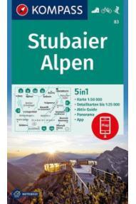 Zemljovid Kompass Stubaier Alpen 83