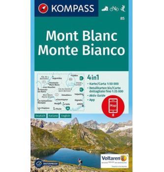 Zemljevid Kompass Mont Blanc 85- 1:50.000
