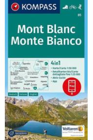 Zemljovid Kompass Mont Blanc 85 - 1:50.000