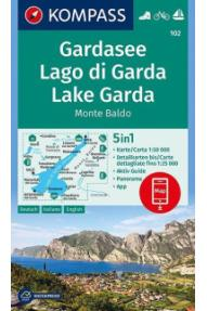 Zemljevid Kompass Gardsko jezero 102- 1:50.000