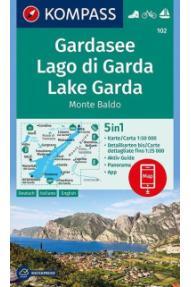 Zemljovid Kompass Gardsko jezero 102 - 1:50.000