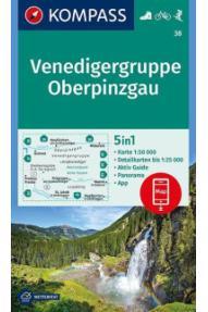 Zemljovid Kompass Venedigergruppe, Oberpinzgau 38