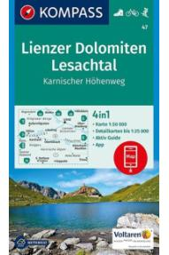 Zemljevid Kompass Lienzer Dolomiten, Lesachtal 47