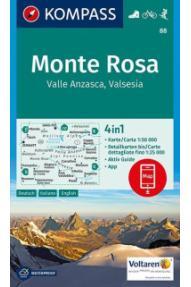 Zemljovid Kompass Monte Rosa 88