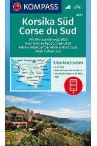 Landkarte Kompass Korzika Süden 2251- 1:50.000