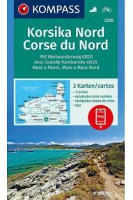 Zemljovid Kompass Korzika sjever 2250- 1:50.000