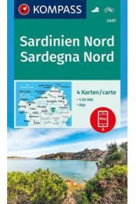 Zemljovid Kompass Sardinija - sever 2497 -  1:50.000