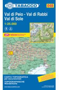 Zemljevid Tabacco 048 Val di Peio, Val di Rabbi, Val di Sole