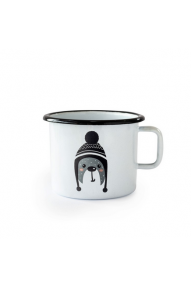 Emajliran lonček (0.37L) Cuckoo Cups Medvedek
