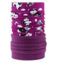 Dječje višenamjensko pokrivalo 4Fun Polartec Funny Cow Viola