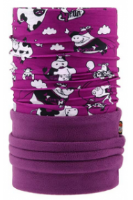 Kids Scarf 4Fun Polartec Funny Cow Viola