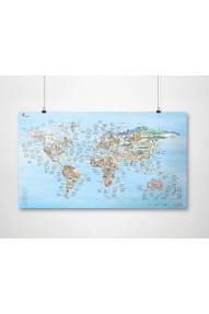 Mappa arrampicata mondo