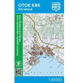 Zemljevid GeoPro Otok Krk