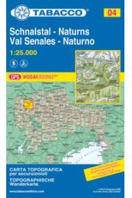 Mappa Tabacco 04 Schnalstal / Val Senales, Naturns / Naturno