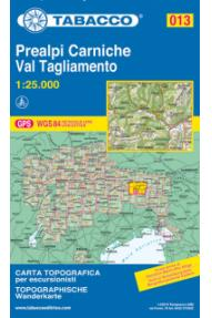 Mappa Tabacco 013 Prealpi Carniche, Val Tagliamento