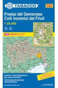 Mappa Tabacco  020  Prealpi Carniche e Giulie del Gemonese