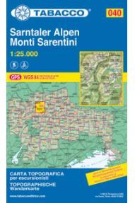 Map Tabacco  040 Monti Sarentini / Sarntaker Alpen