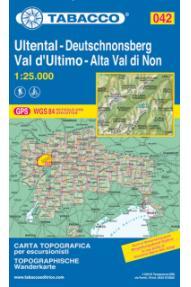 Landkarte Tabacco 042 Val d'Ultimo / Ultental