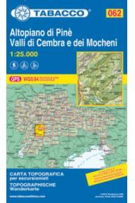 Zemljevid Tabacco 062 Altopiano di Pine - Valli di Cembra e dei Mocheni